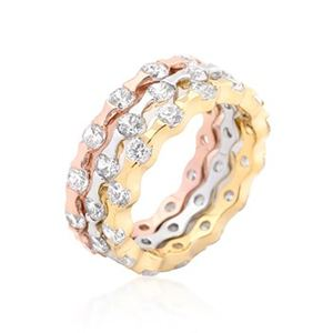 Stack Attack CZ Ring Set-