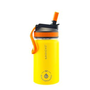 Lil Chill Kids Stainless Steel Insulated Sip Flask - Yellow