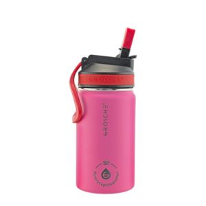 Lil Chill Kids Stainless Steel Insulated Sip Flask - Pink