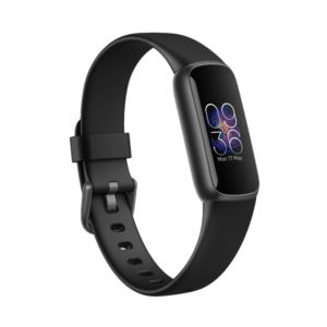 Luxe Fitness & Wellness Tracker - Black/Graphite Stainless Steel