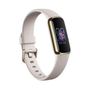 Luxe Fitness & Wellness Tracker - Lunar White/Soft Gold Stainless Steel