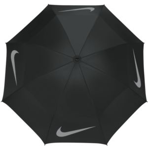 "Nike WindSheer Auto-Open 68"" Umbrella - Black/Silver-"