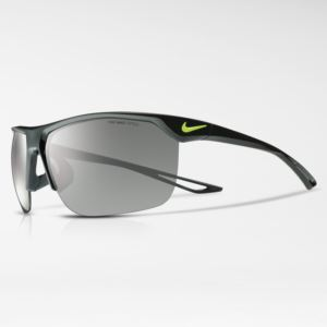 Nike Trainer Men's Sunglasses - Black/Volt - Grey/Silver Flash Lens- Black/Volt Frame, Grey/Silver Flash Lens