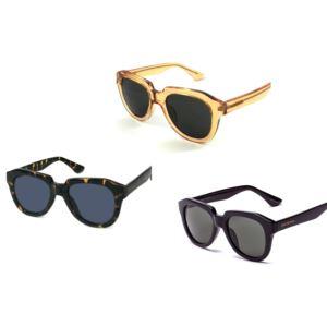 Set of 3 Geometric Sunglasses-Tortoise and Black and Yellow