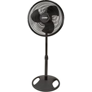 16-In. Oscillating Stand Fan in Black