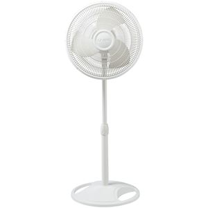 16 In. Oscillating Stand Fan - White