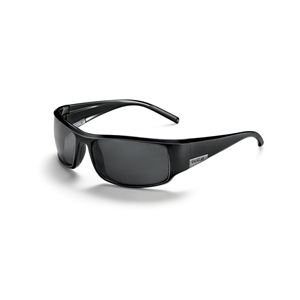 King Shiny Black Sunglasses w/Polarized TNS Lenses