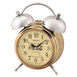 LIMITED EDITION Deux Bell Alarm Clock by Coca-Cola - Gold