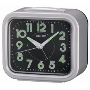 """4"""" Traditional Bell Alarm With Snooze and Dial Light"""", Square"""