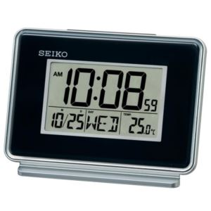 "4"" Rectangular Digital Dual Alarms Calendar Thermometer and Dual Light Clock"
