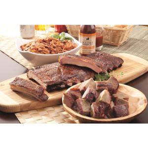 Three Meat Party Sampler Dinner KC BBQ