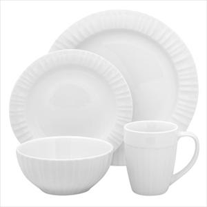 French White 16-Pc Set, Service for 4