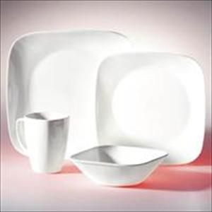 Square 16-Pc Set, Service for 4 (Pure White)
