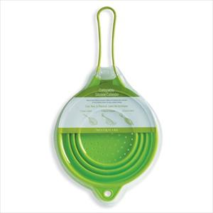 """10"""" Collapsible Silicone Colander -Green"""