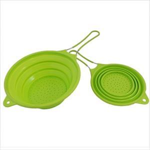 "8"" & 10"" Silicone Colanders (Green)"