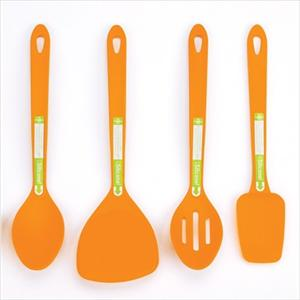 4-Pc Silicone Tool Set (Orange)