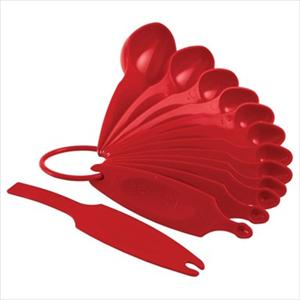 MEASURING SPOON SET 12 PC (EMPIRE RED)