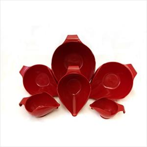 6PC BOWL SET, 1-2-4-6-8-12 CUP (EMPIRE RED)